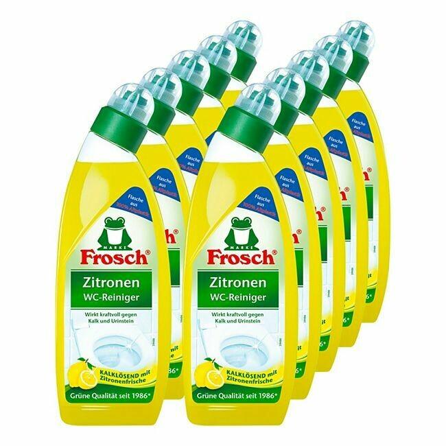 Grosspackung Frosch WC-Reiniger Zitrone 750 ml, 10er Pack