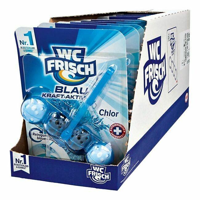 Grosspackung WC Frisch Kraft-Aktiv Blauspüler Chlor 50 g, 10er Pack