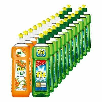 Grosspackung Fit Spülmittel verschiedene Sorten 500 ml, 24er Pack = 12 Liter