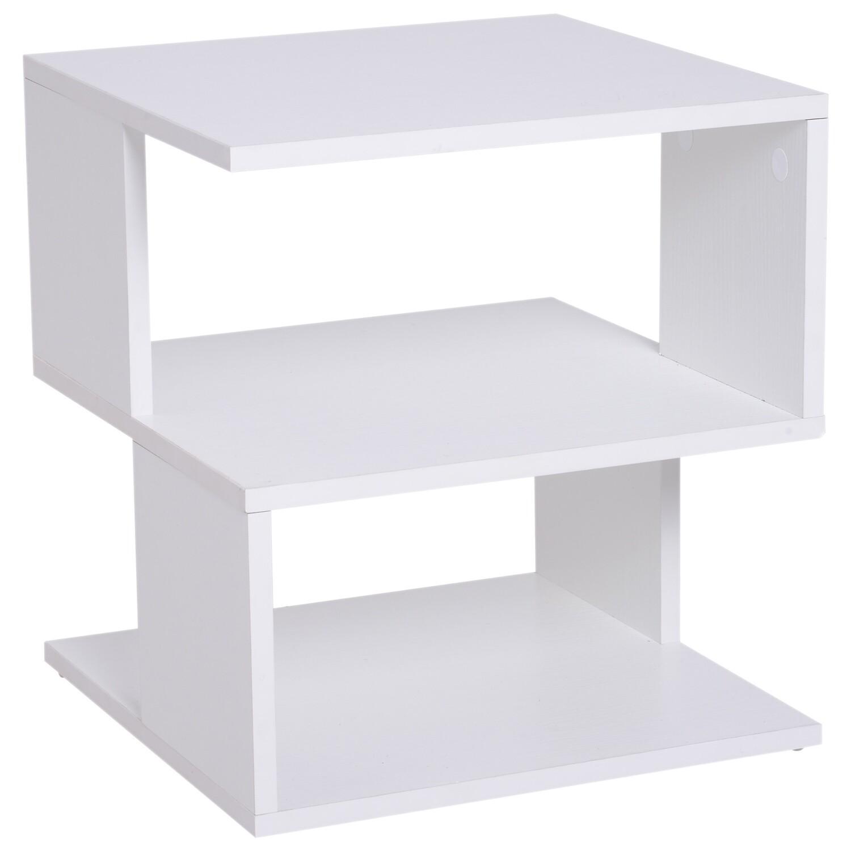 HOMCOM® Beistelltisch Betttisch mit modernes Design Couchtisch für Büro Wohnzimmer