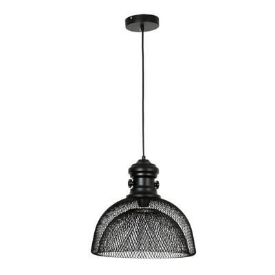 HOMCOM® Deckenlampe Pendelleuchte Hängeleuchte Industrie moderner Stil Schwarz