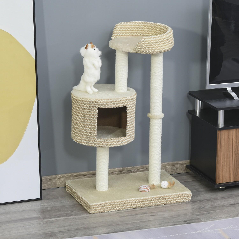 PawHut® Katzenbaum Kratzbaum Kletterbaum Aussichtsplattformen Spielmöglichkeiten
