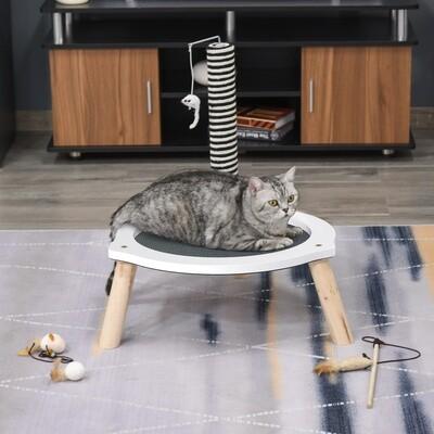 PawHut® Katzenbett Katzen Bettchen Gross mit Pfosten und Spielzeugmaus