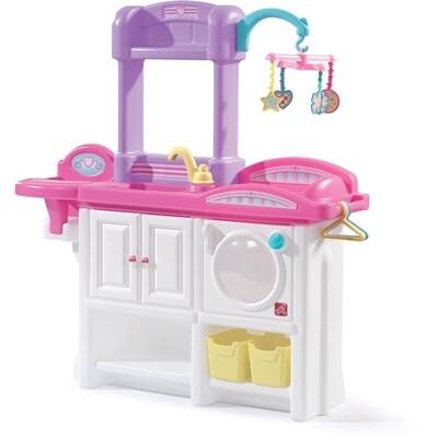 Step2  Love & Care Deluxe Spiel-Kommode für Puppen weiß/rosa 95 cm