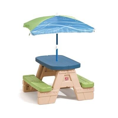 Step2 Picknick- Tisch mit Sonnenschirm 94 cm
