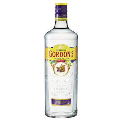 Grosspackung Gordons London Dry Gin 37,5 % Vol. - 6 x 1,00 l Flaschen = 6 Liter