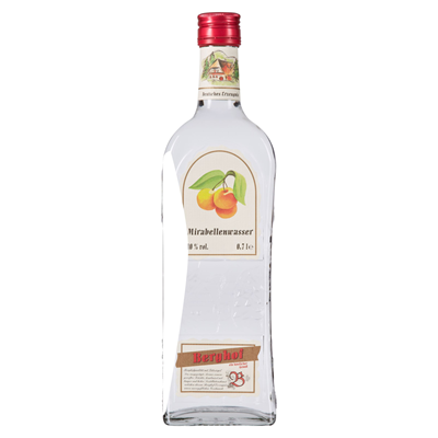 Grosspackung Berghof Mirabellenwasser 40 % Vol. 6 x 0,7 l Flaschen = 4,2 Liter