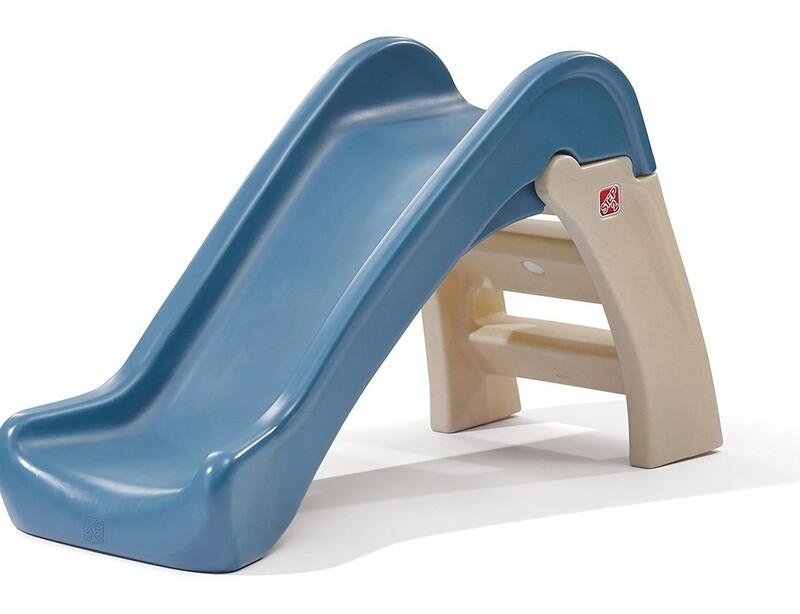 Step2 Rutsche Play and Fold 110 cm braun/blau
