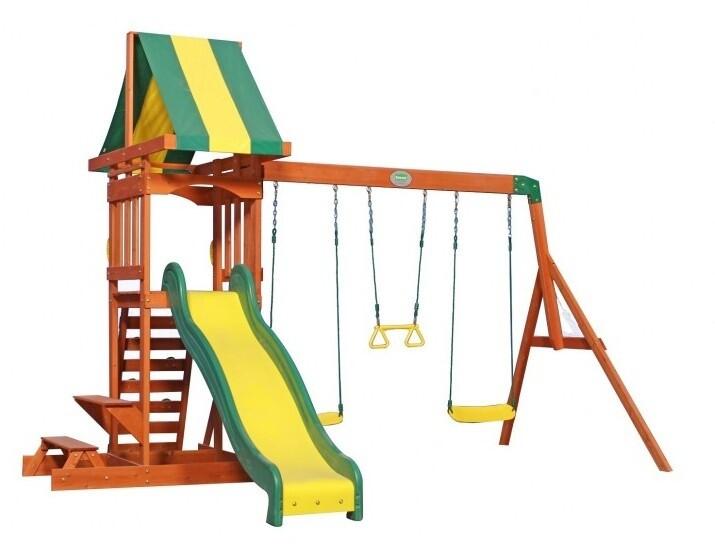 Backyard Discovery Sunny Spielturm mit Schaukeln 406 cm, Holz