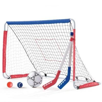 Step2 Kickback Fußball- und Hockeytor, 6-teilig weiß 123 cm