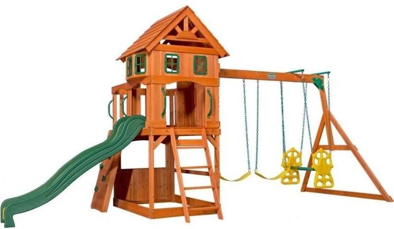 Backyard Discovery Spielhaus Atlantic 551x236x285 cm hell, Holz