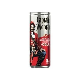 Grosspackung Captain Morgan & Cola Rum Cola Mischgetränk aus Jamaica 12 x 0,25 l = 3 Liter