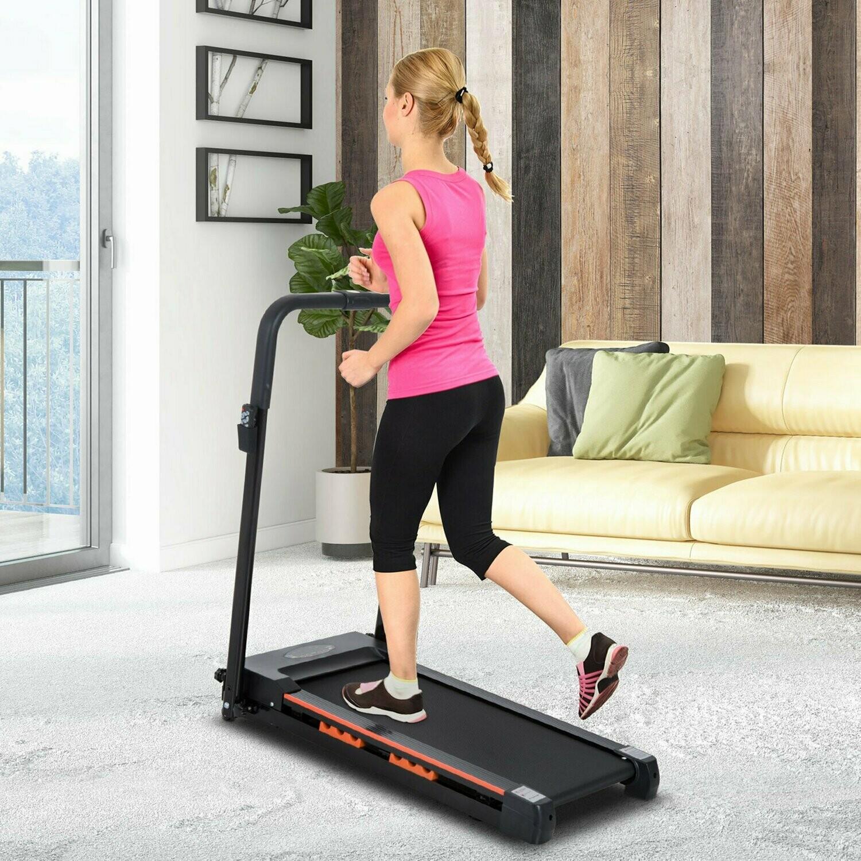 HOMCOM® Elektrisch Laufband mit LCD Display Faltbares Fitnessgeräte 1-6Km/h Stahl
