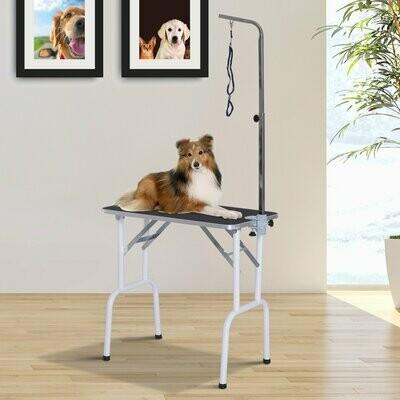 PawHut® Trimmtisch klappbar Schertisch Pflegetisch für Hunde Katzen Metall Schwarz