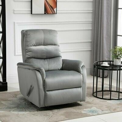HOMCOM® Relaxsessel Einzelsofa Liegesessel 140° neigbar Fernsehsessel Polyester Grau