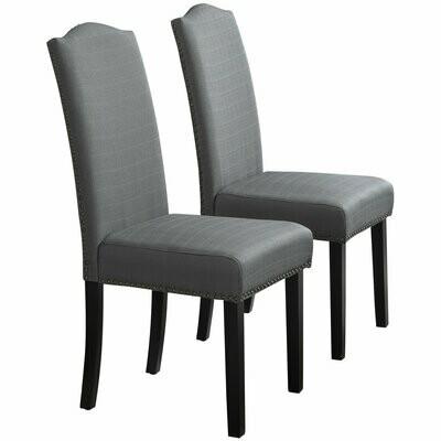 HOMCOM® Esszimmerstuhl 2er Set Küchenstuhl Polsterstuhl Wohnzimmerstuhl mit Rückenlehne