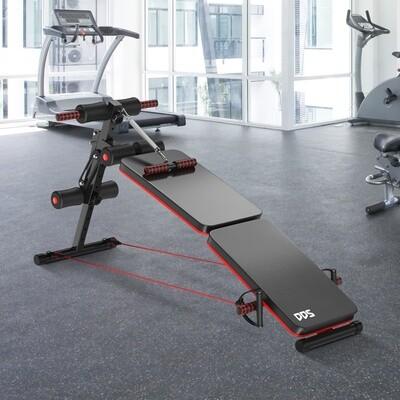 HOMCOM® Sit Up Bank Bauchtrainer Trainingsbank Multifunktion Verstellbar&klappbar Stahl