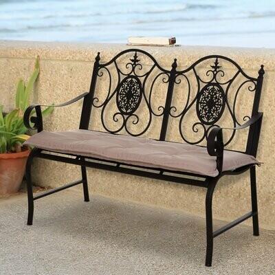 Outsunny® Bankauflage 2er Set Bankkissen Sitzkissen für Gartenbank Polster Polyester Beige