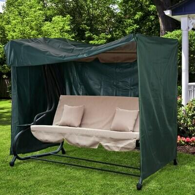 Outsunny® Abdeckung für Gartenschaukel Schutzhülle Abdeckhaube Wasserfest Oxford Grün