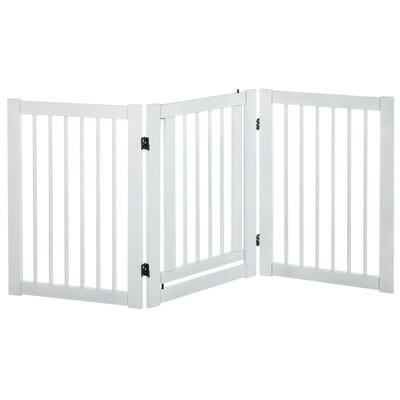 PawHut® Absperrgitter für Hunde Türschutzgitter Schutzgitter MDF Weiss