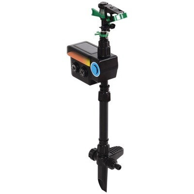 Outsunny® Tiervertreiber Wasserstrahl | Mit Bewegungssensor 9 m | Schwarz | 19 x 8 x 64 cm