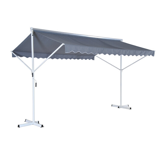 Outsunny® Standmarkise 2,95 x 3,45m grau