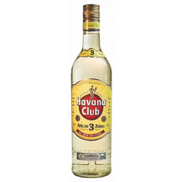 Grosspackung Havana Club Rum 3 anos aus Kuba 6 x 1 l = 6 Liter