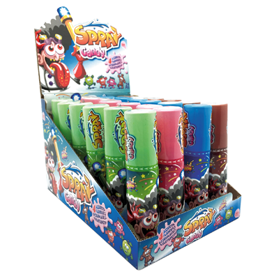 Restposten Alex Sweets Classic Candy Spray 24 Stück à 25 ml - 600 ml Packung