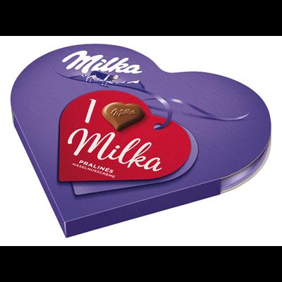 Grosspackung Milka Pralines I love Milka Geschenkherz - 10 x 44 g Schachtel = 0,44 kg