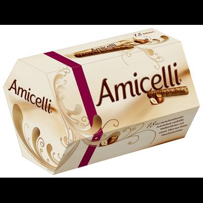 Grosspackung Amicelli Haselnuss Waffelröllchen 10 x 225 g = 2,25 kg