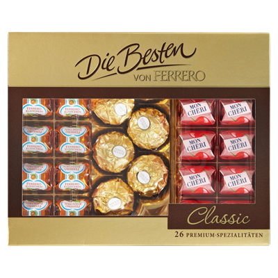 Grosspackung Ferrero Premium-Pralinen die Besten - 10 x 269 g Schachtel = 2,69 kg