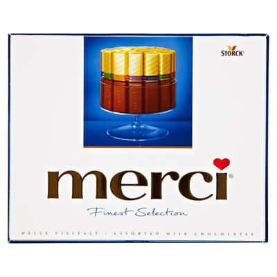 Grosspackung Merci Finest Selection Helle Vielfalt 10 x 250 g Packung = 2,5 kg