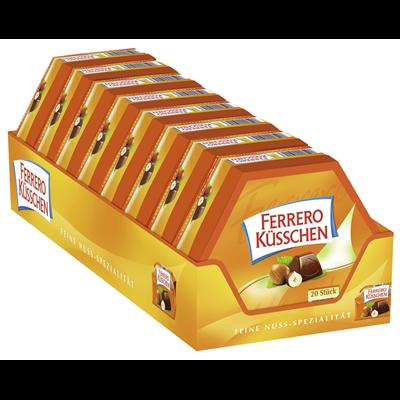 Grosspackung Ferrero Praline Küsschen Klassik - 8 x 178 g Packungen = 1,424 kg