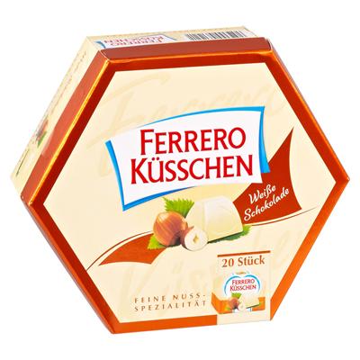 Grosspackung Ferrero Küsschen Weisse Schokolade 8 x 178 g Packungen = 1,424 kg
