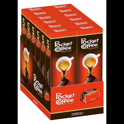 Grosspackung Pocket Coffee Pralinen - 12 x 63 g Karton = 0,756 kg