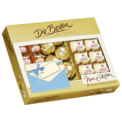 Grosspackung Ferrero die Besten von Ferrero Nuss 10 x 253 g Schachtel = 2,53 kg