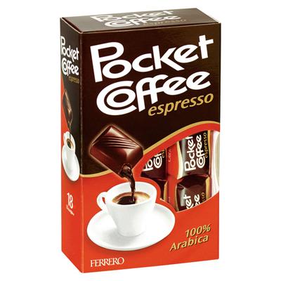 Grosspackung Ferrero Pocket Coffee Espresso Kaffeepralinen 10 x 225 g Schachtel = 2,25 kg