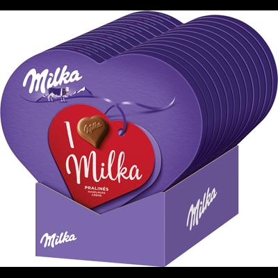 Grosspackung Milka I Love Milka Geschenkherz - 12 x 165 g Schachtel =  1,98 kg