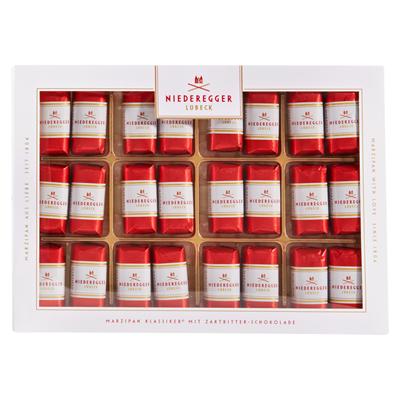 Grosspackung Niederegger Marzipan Klassiker mit Zartbitter-Schokolade 10 x 300 g, 24 Stück = 3 kg