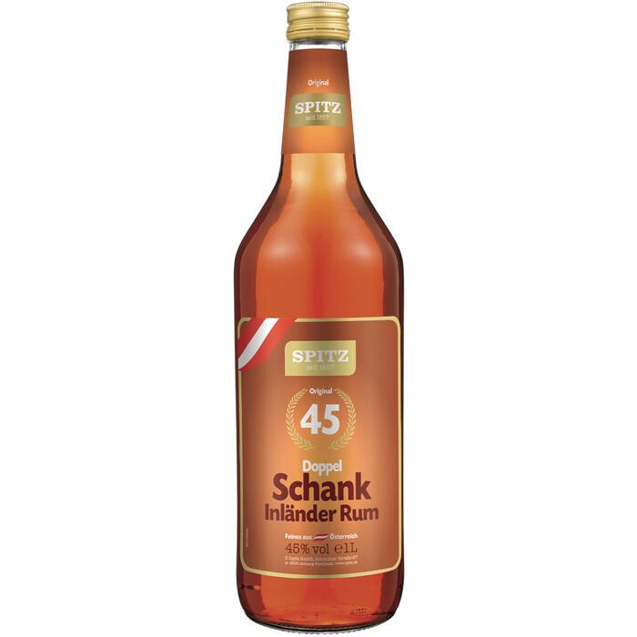 Grosspackung  Spitz Doppel Schank Rum 45 % aus Österreich 6 x 1 l = 6 Liter