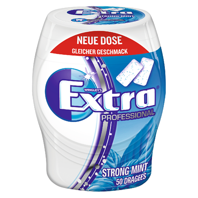 Grosspackung Wrigley's Extra Professional Gum Strong Mint 50er - 12 x 70 g Karton = 0.84 kg