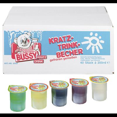 Grosspackung Wassereis Bussy Kratzeis Mix Waldfrucht 40 Stück à 200 ml 8 Liter