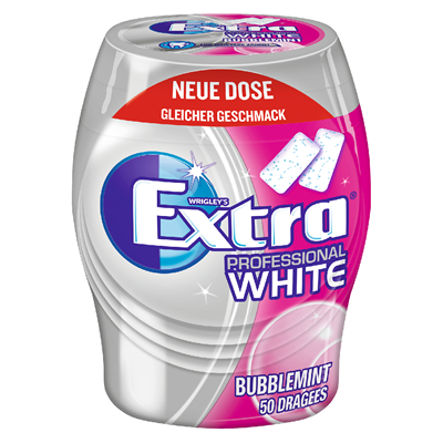 Grosspackung Wrigley's Extra Professional Gum White Bubblemint 50er - 12 x 70 g Karton