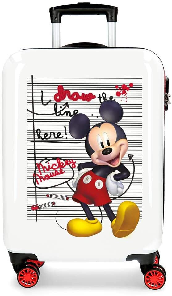 Disney Kinderkoffer Mickey 70 Liter 68 cm rot/weiss