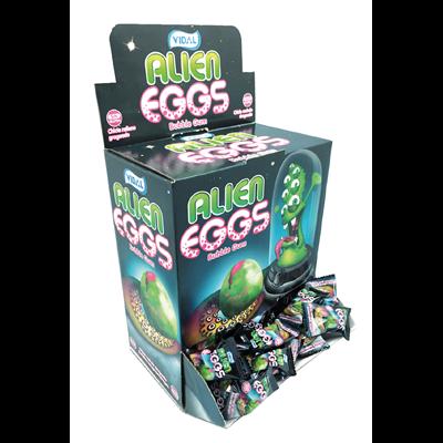 Grosspackung Alex Sweets Vidal gefüllte Kaugummis Alien Eggs / Eier 200 Stück à 5 g - 1 x 1 kg Packung