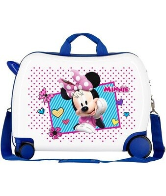 Disney Kinderkoffer Minnie Joy 50 cm ABS 34 Liter weiß/blau