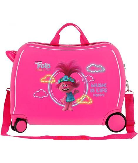 Disney Kinderkoffer Trolls Mädchen 50 cm ABS 34 Liter rosa