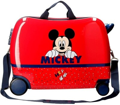 Disney Mickey Mouse Kinder- Aufsitzkoffer 34 Liter rot
