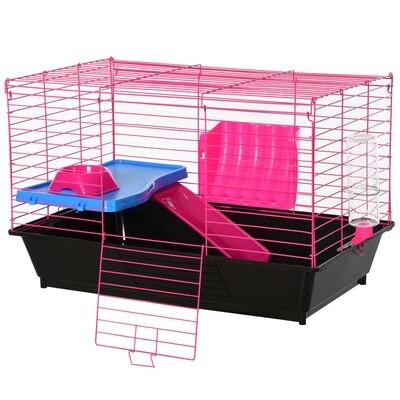 PawHut® Hamsterkäfig mit Zubehör Nagerkäfig Mäusekäfig Hamster Rohrsystem Grün+ Weiss