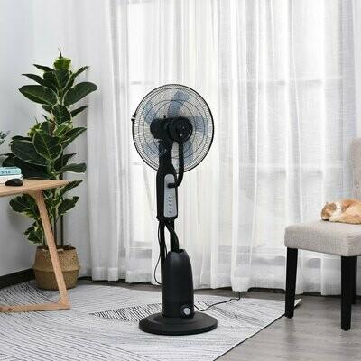 HOMCOM® Standventilator mit 2,8 Liter Wasserzerstäuber Ventilator Höhe 120 cm Metall - Klimaanlage
